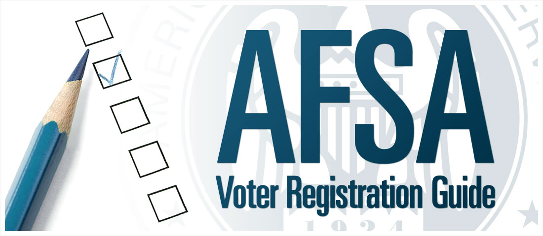 AFSA Voter Registration Guide